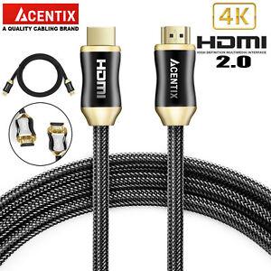 PREMIUM HDMI CABLE v2.0 HD FAST 4K 3D LEAD 0.5M/1M/1.5M/2M/3M/5M/10M/15M/20M/30M