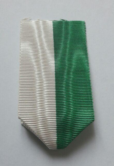 Ruban moiré vert et blanc pour Médailles