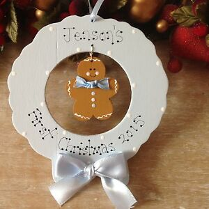 Personalised-My-First-1st-Christmas-Tree-Decoration-Gingerbread-Ornament-Gift