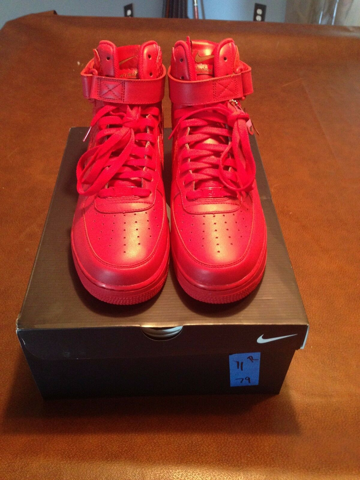 Nike Air Force 1 MISPLACED CHECKS John Geiger Shoe Surgeon Red Size 11 max yeezy