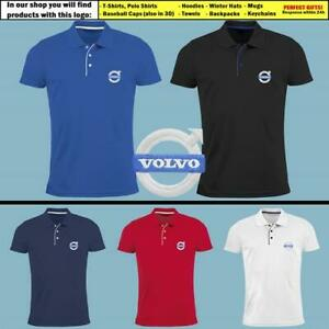 Volvo-Slim-Fit-Polo-T-Shirt-EMBROIDERED-Auto-Car-Logo-Tee-Mens-Clothing-Gift