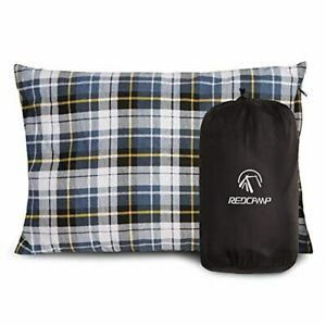 REDCAMP-Outdoor-Camping-Pillow-Lightweight-Flannel-Travel-Pillow-Cases-Removab