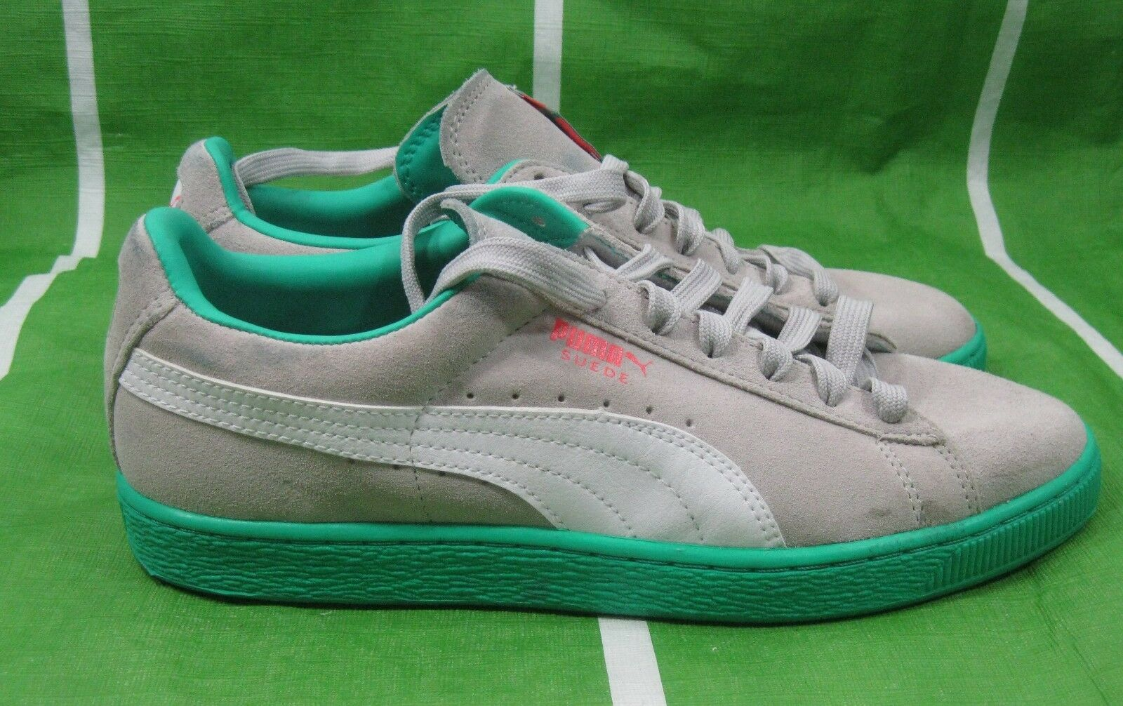 Puma Suede Classic + LFS hommes 356328-11 Gris Violet Fluo Teal Chaussures