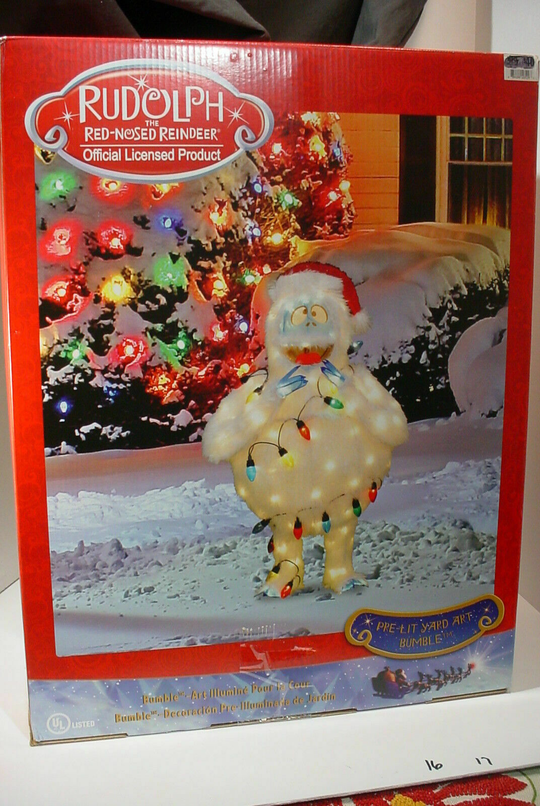 Outdoor Lighted Christmas Yard Decorations Bumble Rudolph Reindeer Lawn Pre Lit