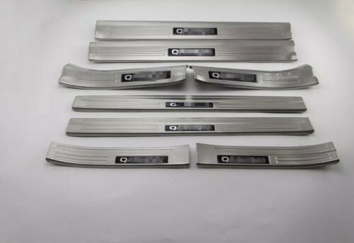 Stainless Steel 3Colors 8PCS Door Sill Scuff Plate For Nissan Qashqai 2014-16