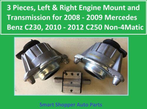 3 Pieces 2 Engine Mount /& 1 Transmission Mount for 2008-2009 Mercedes Benz C230