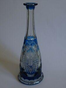 Glorieux Une Ancienne Carafe A Aperitif Val St Lambert Modele Double Colore Bleu Petrole
