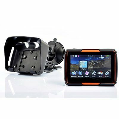 4.3 Inch Motorcycle GPS Navigation System  - Waterproof, 4GB Int Mem, Bluetooth