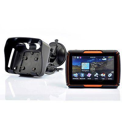 4.3 Inch Motorcycle GPS Navigation System  - Waterproof, 4GB Int Mem, Bluetooth