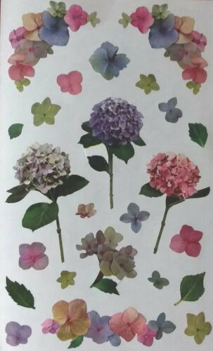 Mrs Grossman HYDRANGEA PHOTOESSENCE FLOWERS PURPLE  Stickers Vintage