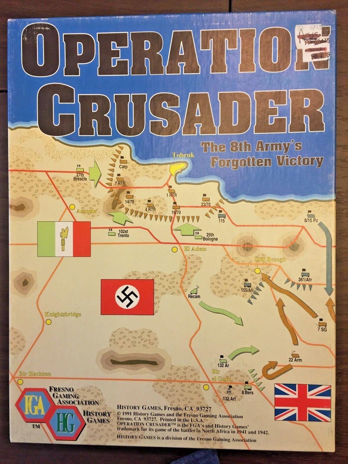 OPERATION CRUSADER  8th Army v. Afrika Korps wargame, Fresno Gaming Association