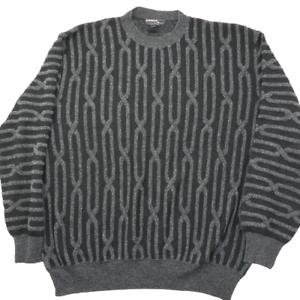 Vintage-Mondo-di-Marco-HERREN-XL-Grau-3d-COOGI-Bill-Cosby-Biggie-Style-Pullover-Hip