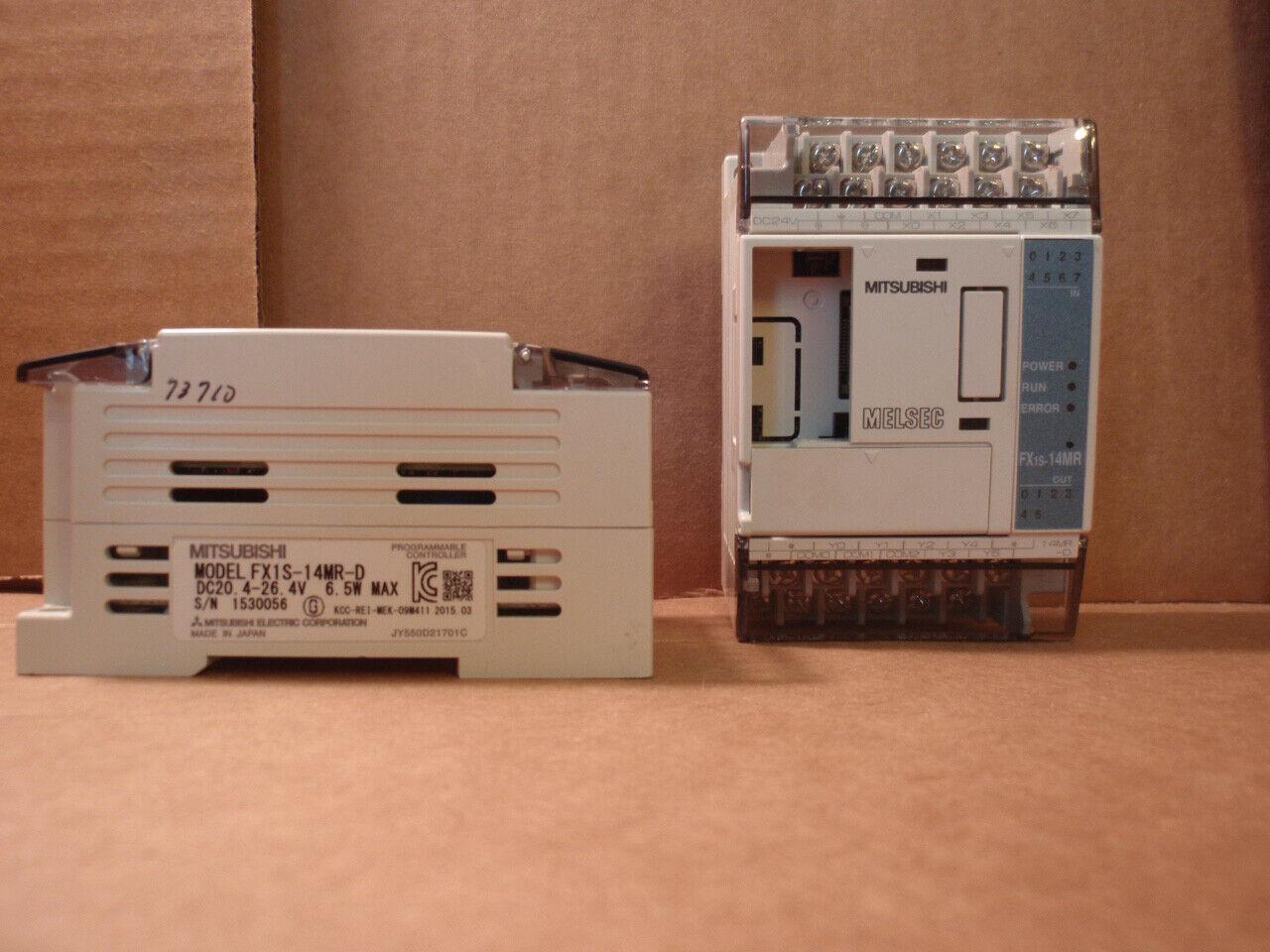 FX1S-14MR-D Mitsubishi PLC 14 I O Point CPU System FX1S14MRD