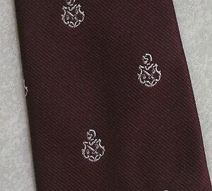 Frugal Vintage Cravate Homme Cravate Shield Crested Club Association Society-afficher Le Titre D'origine