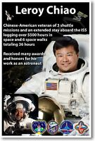 Nasa Astronaut Leroy Chiao - Chinese American Space Mission Veteran - Poster