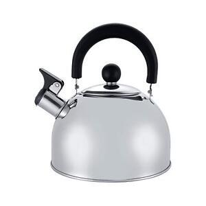 New 2 L en acier inoxydable bouilloire Sifflement cuisine / home camping cuisinière à gaz Silver  </span>