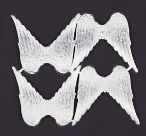 alter-Bogen-4-Paar-Engelsfluegel-Dresdner-Pappe-silbern-DIE-CUT-SCRAPS