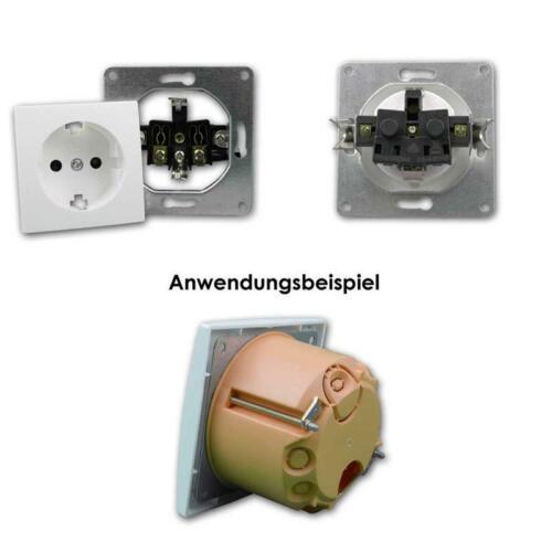 """Interrupteur Prises de courant et Cadre Set FLAIR /""""NIVEAU/"""" 23 pièces UP réservoir Blanc"""
