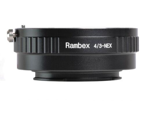 RAMBEX Olympus Panasonic 4//3 Cuatro Tercios Lente Adaptador De Montaje Sony E A9 A7 III