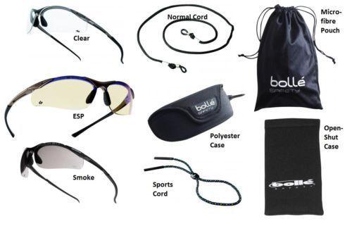 Bolle Contour Avvolgente Occhiali di Sicurezza//Occhiali e Microfibra