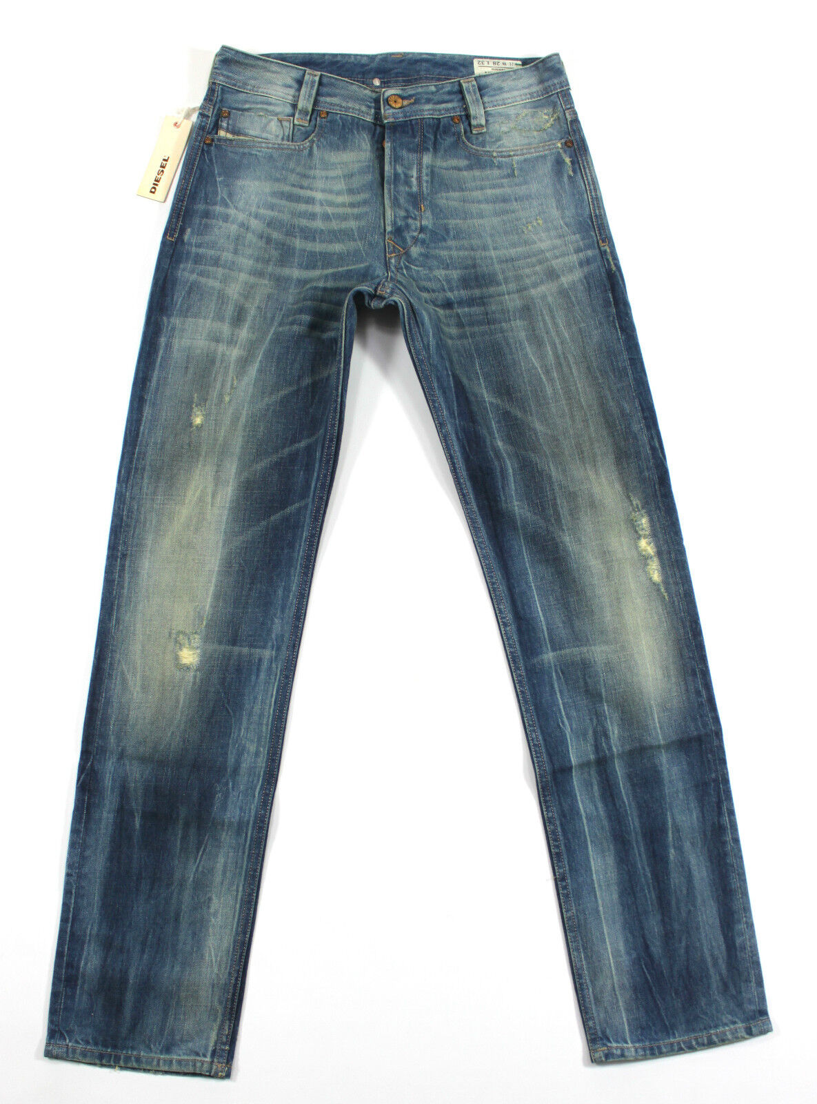 BRAND NEW DIESEL HEEVEN 8TV JEANS 28X32 CARred FIT TAPERED LEG 008TV