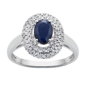 White-Gold-Genuine-Oval-Sapphire-amp-Double-Halo-Diamond-Ring