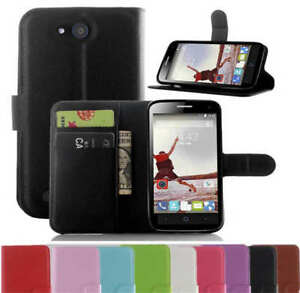 For-Telstra-4GX-BUZZ-ZTE-Blade-Q-Lux-PU-Wallet-Leather-Card-Holder-Case-Cover