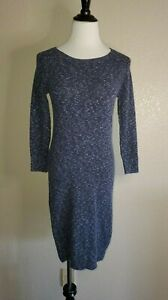 Details about Rag & Bone Navy Blue Long Sleeve A Line Sweater Dress Viscose Wool Blend Sz XS