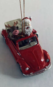 Maisto Christmas Ornament Santa/Rudolph In Classic Red VW ...
