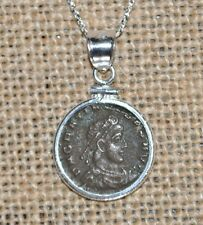 Gratian Roman Emperor & Caesar Authentic Roman Coin 925 Sterling Silver Necklace