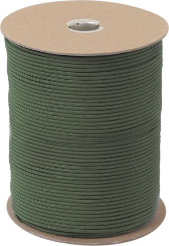 550LB Type III Military Nylon Parachute Cord Rope 1000 Feet Spool