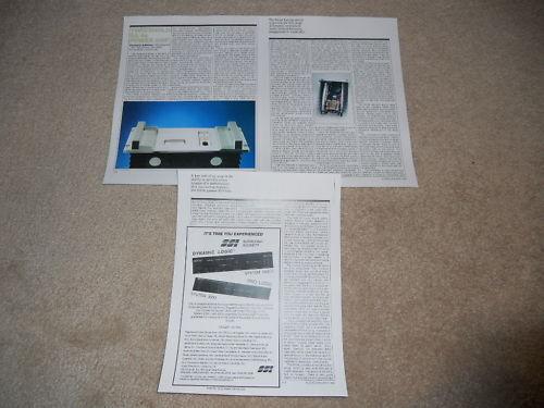 3 pgs 1991 Specs Threshold SA//4e Amplifier Review