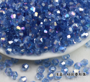 Wholesale 100//200//500//1000 Pcs 4mm AB Crystal Bicone Beads Glass Beads 36 Color