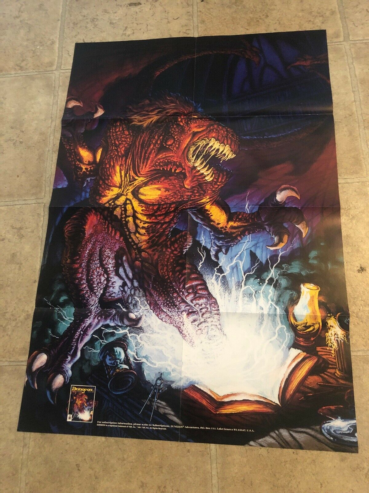 Dungeons and dragons poster Adventures Poster D&D Rare Poster 1991 Clean RARE