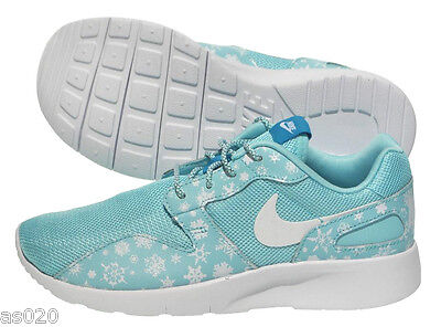 Utile Nike Kaishi Snowflake Stampa Gs (roshe Run Stile) Ragazze Formatori Luce Blu Aqua-