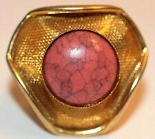 Eduardo Vintage Scarf Ring Shawl Clip Geometric Rivoli