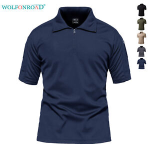 Mens-Military-Tactical-T-Shirts-Short-Sleeve-Golf-Polo-T-shirts-1-4-Zip-T-shirts