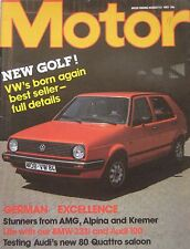 Motor magazine 13/8/1983 featuring Audi 80 Quattro road test