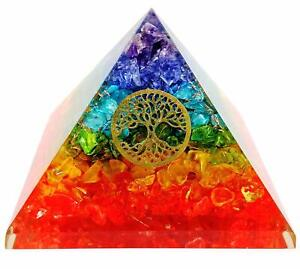 Extra-Large-70-75-MM-Multi-7-Chakra-Natural-Crystal-Tree-of-Life-Orgone-Pyramid