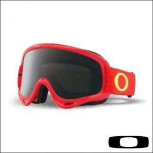 Maschera-da-Motocross-Quad-Enduro-Oakley-O-Frame-MX-Red-Yellow-Lente-Fume