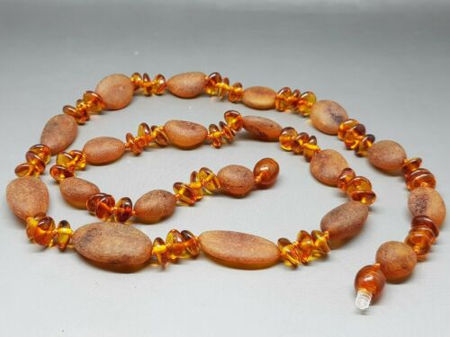 """22,5/"""" Beautiful Genuine Baltic Amber Necklace for Woman Cognac"""