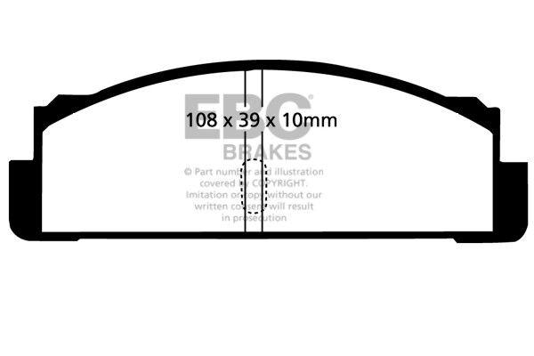 EBC Ultimax Rear Brake Pads for Simca 1000 1.3 (68 > 78)
