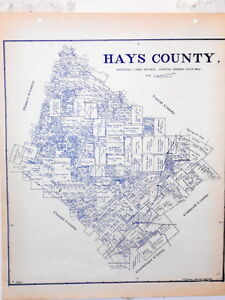 Map Of Texas Kyle.Old Hays County Texas Land Office Owner Map San Marcos Buda Kyle