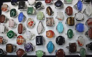 Grosshandel-neu-36stk-silber-Stein-Metall-Riesig-gross-Damen-Mode-Schmuck-Ringe