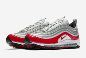 ab06590aa0 Nike Air Max 97 OG University Red Size 9.5-10 Silver Pure Platinum ...