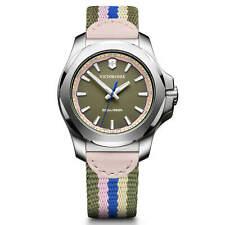Victorinox Swiss Army Women's Watch I.N.O.X. Green Dial Nylon Strap 241809