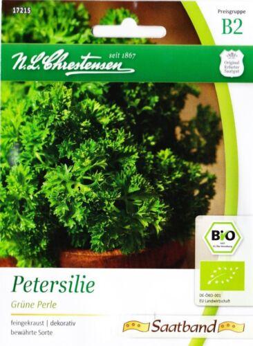 130 Samen 17215 Petroselinum crispum Saatband ca Bio Petersilie /'Grüne Perle/'