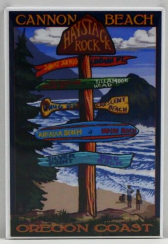 "Oregon Coast Cannon Beach Travel Poster 2/"" X 3/"" Fridge Magnet Creative Gift!"
