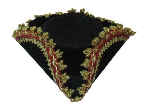 Tricorn Mini Hat /& Gold Edge