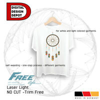 Heat Transfer Paper Laser Iron-on Trim Free Self-weeding Light Fabric Free Style